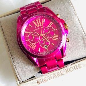 Michael Kors Pink Bradshaw Oversized Watch